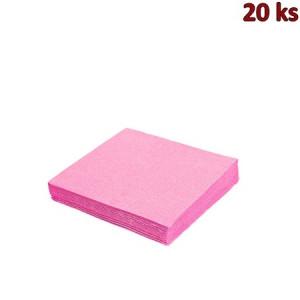 Papírové ubrousky růžové 33 x 33 cm 3-vrst [20 ks]