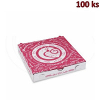 Krabice na pizzu z vlnité lepenky 20 x 20 x 3 cm [100 ks]