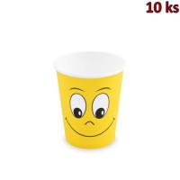 Papírové kelímky bílé 280 ml SMILING FACE [10 ks]