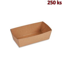 Papírová miska hnědá 13,5 x 7 x 4,5 cm (300 ml), nepromastitelná [250 ks]