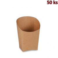 Papírový wrap hnědý 3,9 x 7,5 x 10 cm, nepromastitelný [50 ks]