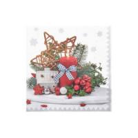 Vánoční ubrousky 3-vrstvé 33x33 - motiv 84294 [20 ks]