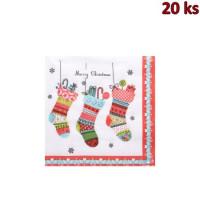 Vánoční ubrousky 3-vrstvé 33x33 - motiv 84170 [20 ks]