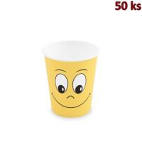 Papírový kelímek, Smiling face, 280 ml, M Ø 80 mm [50 ks]