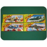 Letadlo házecí- 4 různé typy , 48 ks v krabici