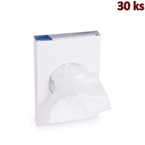 Hygienické sáčky bílé (HDPE) 8+6 x 25 cm [30 ks]