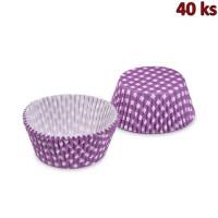 Cukrářské košíčky KARO fialové Ø 50 x 30 mm