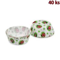 Cukrářské košíčky beruška Ø 50 x 30 mm [40 ks]