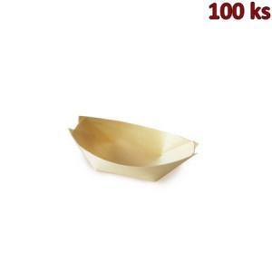 Fingerfood miska dřevěná, lodička 8 x 5,5 cm [100 ks]