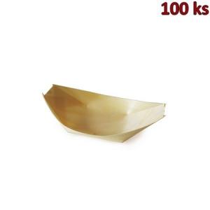 Fingerfood miska dřevěná, lodička 11 x 7 cm [100 ks]