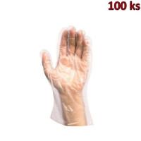 Rukavice jednorázové LDPE pro ženy (vel. M) [100 ks]