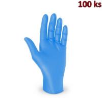 Rukavice nitrilové modré, nepudrované (vel. M) [100 ks]