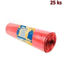 Pytle na odpadky červené 70x110cm,120 l, Typ 60 [25 ks]