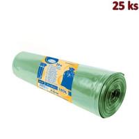 Pytle na odpadky zelené 70x110cm,120 l, Typ 60 [25 ks]