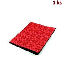 Papírový ubrus skládaný 1,80 x 1,20 m červený
