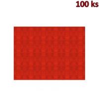 Papírové prostírání 30 x 40 cm červené [100 ks]