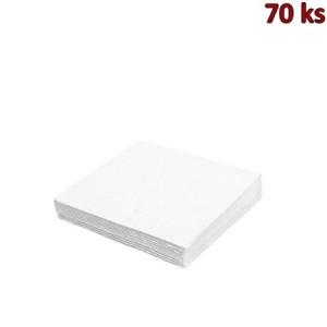 Papírové ubrousky bílé 1-vrstvé, 30 x 30 cm [70 ks]