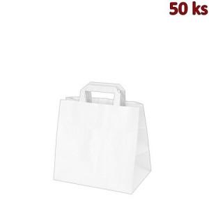 Papírové tašky 26 x 17 x 25 cm bílé [50 ks]