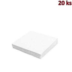 Papírové ubrousky bílé 33 x 33 cm 3-vrst [20 ks]