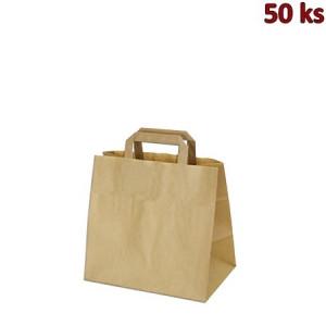 Papírové tašky 26x17 x 25 cm hnědé [50 ks]