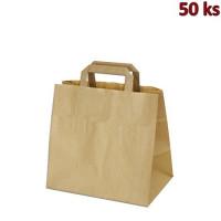 Papírové tašky 32x21 x 27 cm hnědé [50 ks]