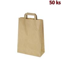 Papírové tašky 26x12 x 36 cm hnědé [50 ks]
