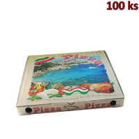 Krabice na pizzu z vlnité lepenky 46 x 46 x 5 cm [100 ks]