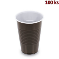 Kávový kelímek hnědo-bílý 0,2 l PP (Ø 70 mm) [100 ks]