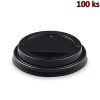 Víčko vypouklé černé pro papírové kelímky Ø 90 mm [100 ks]