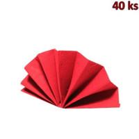 Ubrousky DekoStar 40 x 40 cm červené [40 ks]