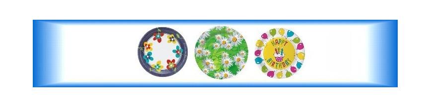 Papírové talíře barevné