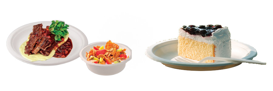 BIO nádobí z cukrové třtiny SKLADEM